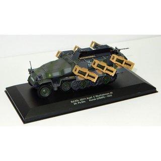 US Halbkette M16 Flak Maßstab 1:43 Die-Cast Fertigmodell