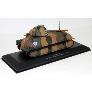 Somua Tank S-35 France Maßstab 1:43 Fertigmodell aus Metall in Displayvitrine