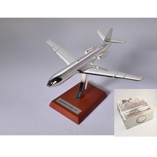 SUD Aviation Caravelle Silbernes Flugzeug Fertigmodell Maßstab 1:200