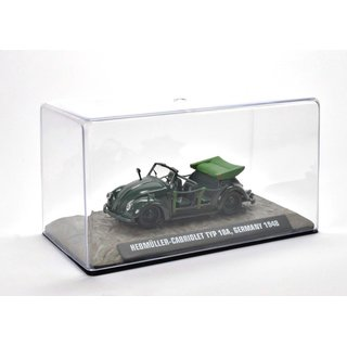 VW Hebmüller TYP 18a 1948 1:43 Fertigmodell aus Metall in Displayvitrine