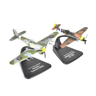 Dogfight Set Messerschmitt Bf 109G vs. Typhoon MkIb Fertigmodell Maßstab 1:72
