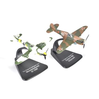 Dogfight Set Messerschmitt Bf 109F vs. Curtis P-40E Kittyhawk Fertigmodell 1:72