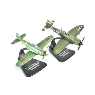 Dogfight Set Republic P-47 D / Kawanishi N1K2 Fertigmodell Maßstab 1:72