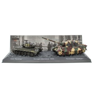 World of Tanks Panzerset Remagen Jagdtiger vs. M26 Pershing Fertigmodelle 1:72
