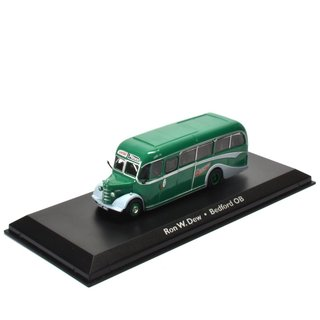 Ron W.Dew Bedord Bus Fertigmodell aus Die-Cast Metall in Vitrine 1:72