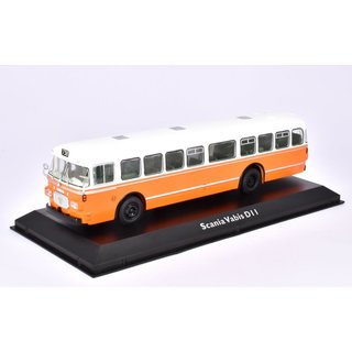 Scania Vabis D11 Bus Fertigmodell aus Die-Cast Metall in Vitrine 1:72