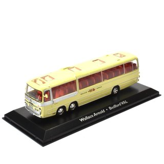 Wallace Arnold Bedfort Bus Fertigmodell aus Die-Cast Metall in Vitrine 1:72
