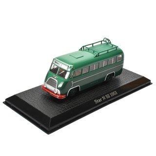Star N 52 Bus  Bus Fertigmodell aus Die-Cast Metall in Vitrine 1:72